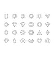 gems stones icon diamond jewels luxury quality vector image