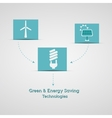 Green and energy saving technologies poster vector image vector image