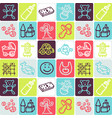 hand drawn icons set - nursery vector image vector image