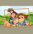 happy family picture in nature vector image vector image