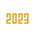 happy new year 2023 pixel art style vector image vector image