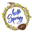 hello spring quote vector image vector image
