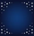 image of snowflakes from the ornament on a dark vector image vector image