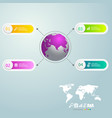 infographics 4 steps with world map for business vector image vector image