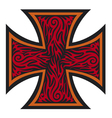 Iron cross tattoo style - Tribal style vector image vector image