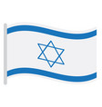 isolated israeli flag vector image