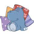 Little hippopotamus Cartoon vector image vector image