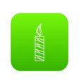 long candle icon green vector image vector image