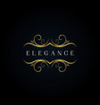 luxury elegant ornament logo style sign symbol vector image vector image