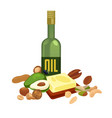 oily products with high calorie content isolated vector image