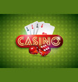 on a casino theme with shiny vector image