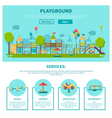 Outdoor Playground vector image vector image