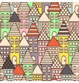 Outline city multicolor seamless pattern vector image vector image
