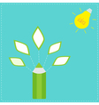 Pencil with leaf icons and light bulb sun Idea con vector image vector image