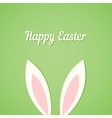 Rabbit ears Easter card vector image