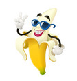 ripe banana tropical fruit vector image vector image
