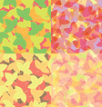 Seamless colorful leaves pattern Abstract backgro vector image vector image