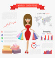 shopping world infographic vector image vector image