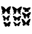 silhouettes of butterflies vector image vector image