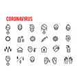 simple set coronavirus protection related vector image