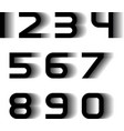 speed motion blur font numbers vector image vector image