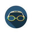 Swimming Goggles flat icon Summer Vacation vector image
