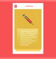syringe mobile vertical banner design design vector image vector image