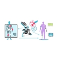 Technological Advance in Medicine Icon Flat vector image vector image