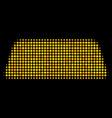 treasure brick halftone icon vector image