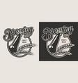 vintage craft beer emblem vector image vector image