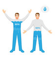 water contain in human body and dangerous vector image vector image