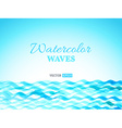 watercolor waves landscape vector image