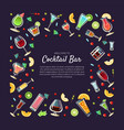 welcome to cocktail bar banner template with place vector image vector image