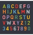 Cartoon Style Flat Color Alphabet vector image