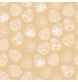 Seamless of Easter eggs with graphic pattern vector image