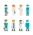 flat design medical staffs and doctors vector image
