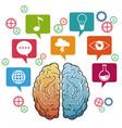 human brain science inspiration vector image