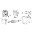A jam bread and baking materials vector image vector image