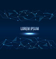 abstract polygonal space low poly modern vector image