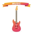 Acoustic and electric guitars set vector image vector image