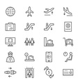 Airport Icons Line vector image vector image