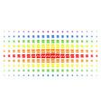 analytics chart spectrum halftone effect vector image vector image