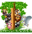 Animal friends vector image vector image