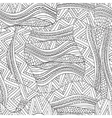 Artistically ethnic waves pattern in doodle style vector image