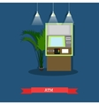 ATM flat style design vector image