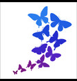 background with a border butterflies flying vector image
