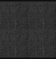 black grunge texture weaving fabric seamless vector image