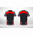black red and white layout e-sport t-shirt design vector image vector image