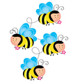 buzzy bee vector image vector image