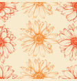calendula flower seamless pattern floral stems vector image vector image